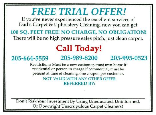 carpet cleaning coupon birmingham alabama